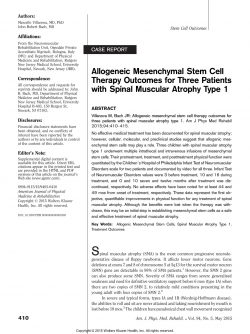 Allogenic Mesenchymal Stem Cell Terapy
