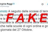 """Roma terremoto. Scuola e università chiuse! Allarme rientrato, era """"tweet fake""""della sindaca Raggi"""