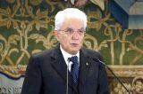 Il Presidente Mattarella in diretta video dal Quirinale