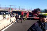 Tragedia in Autostrata A14. Il crollo del cavalcavia tra Ancona e Loreto visto dall'elicottero della Polizia