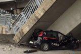 Piemonte. Tragedia sfiorata, crollo di un ponte su un'auto dei Carabinieri. Oggi non si piange nessuno