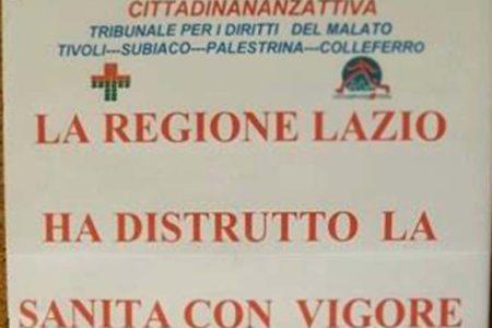 """MalaSanità Laziale. Tivoli, Subiaco, Palestrina, Colleferro la denuncia di Cittadinanzattiva TDM: """"Malati  rinunciano a curarsi"""""""