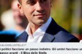 """Di Maio invita ad un'alleanza alle Regionali in Umbria: """"Un patto civico, via i politici"""""""