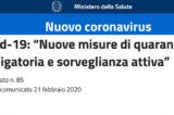 """Covid-19 arriva in Lombardia? Speranza attiva """"Nuove misure di quarantena obbligatoria"""""""
