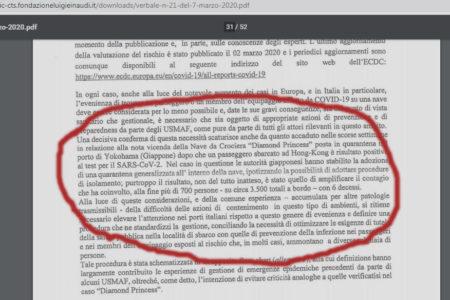 Covid-19, Fondazione Einaudi pubblica i verbali desecretati. Sono del CTS e partono dal 28 febbraio 2020