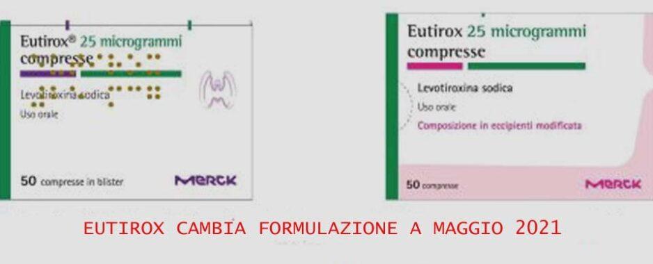 Eutirox, a maggio 2021 cambia formulazione. Avvertenze per i medici: stretto monitoraggio dei pazienti