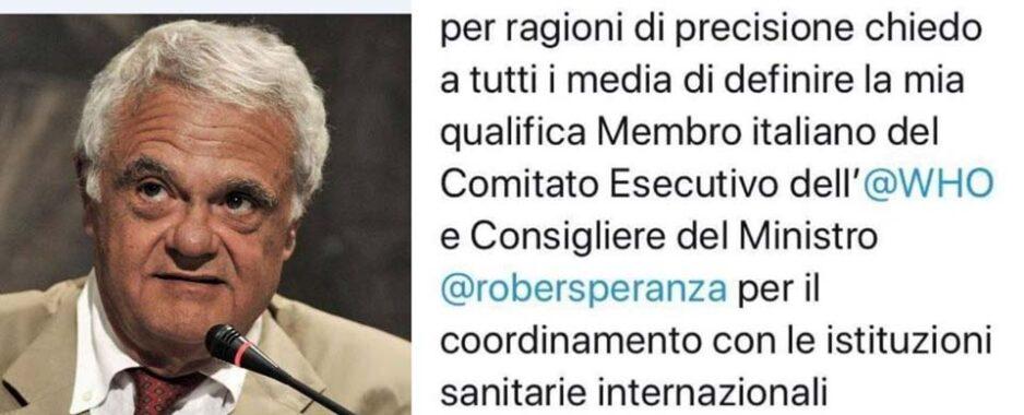 """Codacons contro Ricciardi, il Consiglio di Stato: """"ANAC deve riaprire istruttoria sul consulente di Speranza finanziato dalle case farmaceutiche"""""""